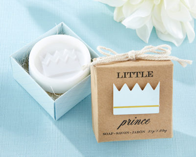 Prince soaps baby shower favors