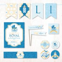 Royal Little Prince baby shower printable decorating kit