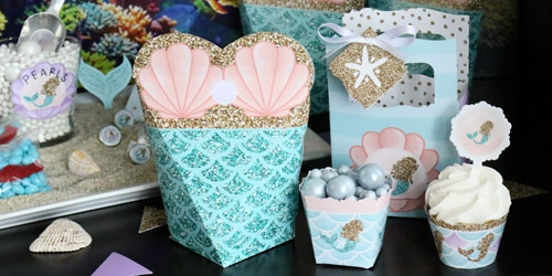 Mermaids baby shower supplies