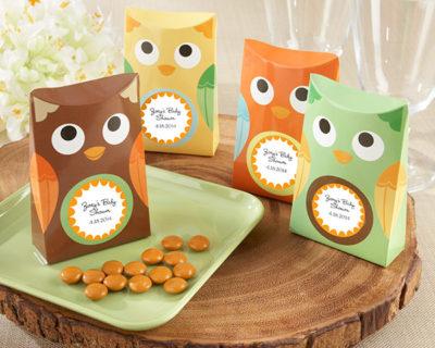 owl baby shower favor box