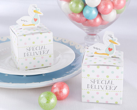 stork special delivery baby shower boxes