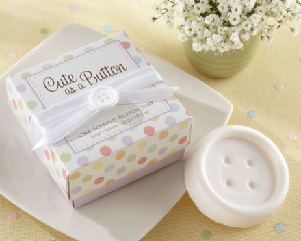 cute as a button baby shower soaps
