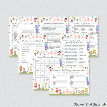 7 Nursery Rhymes Printable party games