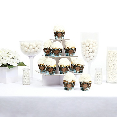 African American baby boy cupcake wrappers