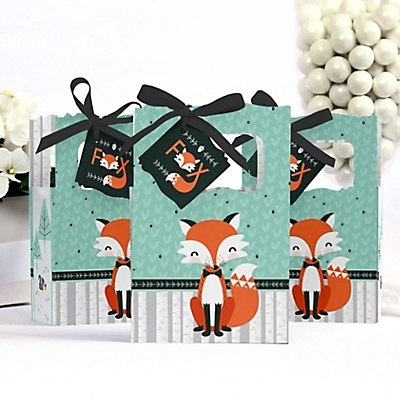 Mr fox baby shower boxes