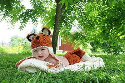 handmade fox infant costume