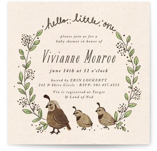 Mom baby birds invitations
