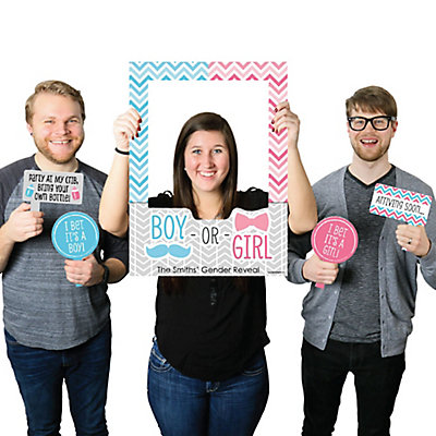 Gender Reveal party picture taking props
