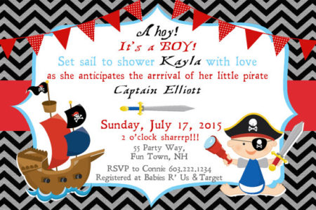 Printable Pirate Baby shower invite