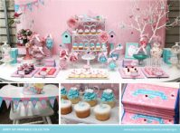 DIY Birds and Butterfly baby shower party set