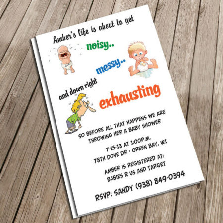 Baby Shower Invitation ideas Funny Baby Shower Invitations