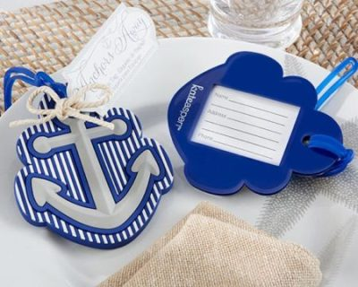 anchor sea theme luggage tag shower favors