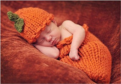 Pumpkin hand made infant costume