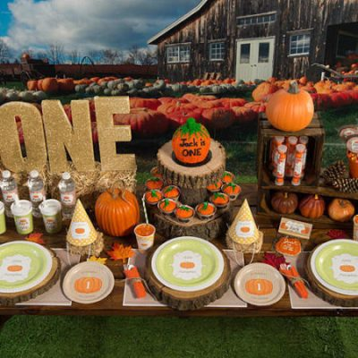 Pumpkin baby shower party supplies