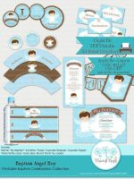 DIY Baby angel boy baptism Christening party kit