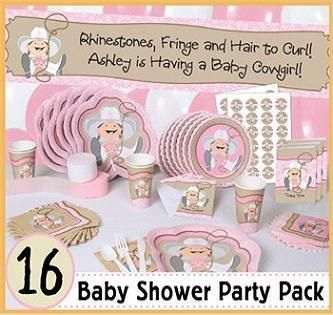 Little cow girl baby shower theme party supplies