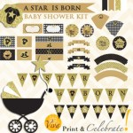 A Star is Born baby shower theme download