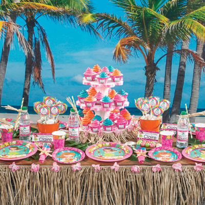 Luau Honey girl baby shower supplies