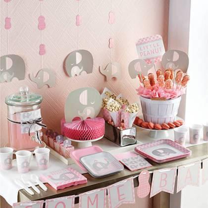 Little Peanut Girl baby shower supplies