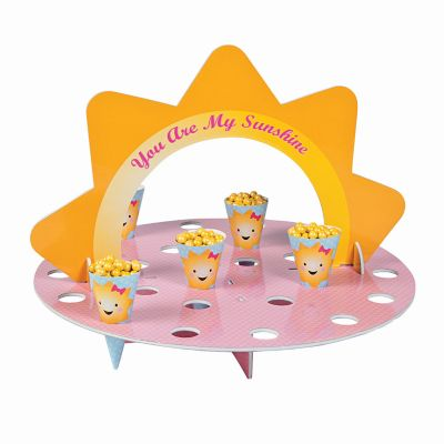 Summer baby shower goody stand and paper cones