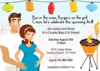 retro couples baby shower invite