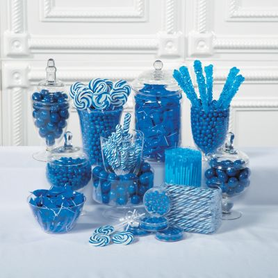 blue baby shower candy dessert table supplies
