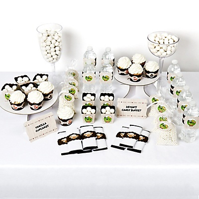 Woodland animals baby shower dessert table decorating kit