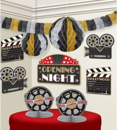 Movie Hollywood theme party decorating kit