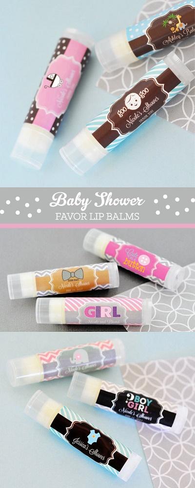 baby shower lip balm custom favors