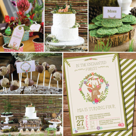 DIY Enchanted forest baby shower kit