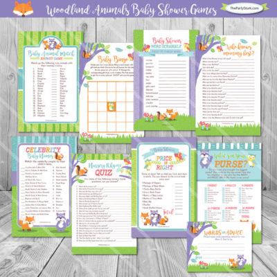 DIY Forest Woodland baby shower game download