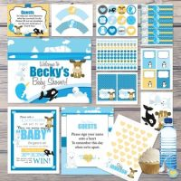Complete Arctic Winter baby shower party kit digital