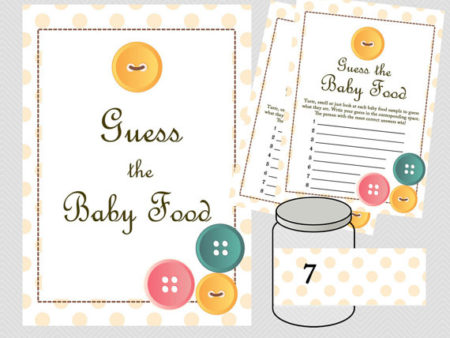 Instant Guess that Baby Food name game set