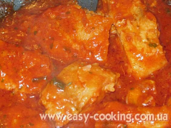 Рыбное филе в томате - Кулинарный рецепт