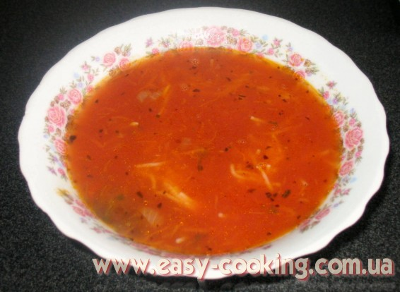 Tomato Soup Cooking - Ukrainian Pomidorova Zupa