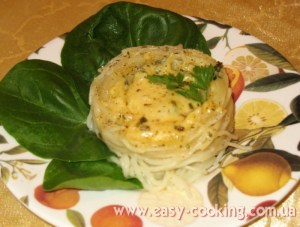 Паста зі шпинатом і сиром