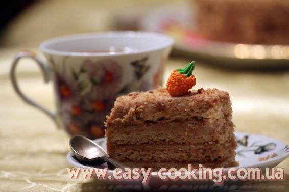 Рецепт медового торта со сметанным кремом - Рецепты выпечки - Кулинарный блог Катрусина кухня
