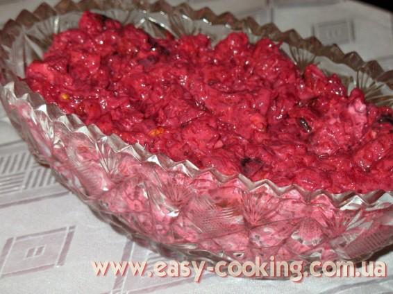 Салат со свеклой и черносливом - Рецепты салатов - Кулинарный блог Катрусина кухня