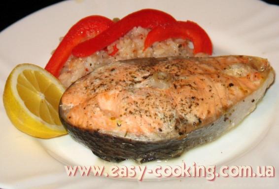 Стейки лосося, запеченные с лимоном - рецепт на кулинарном блоге Катрусина кухня