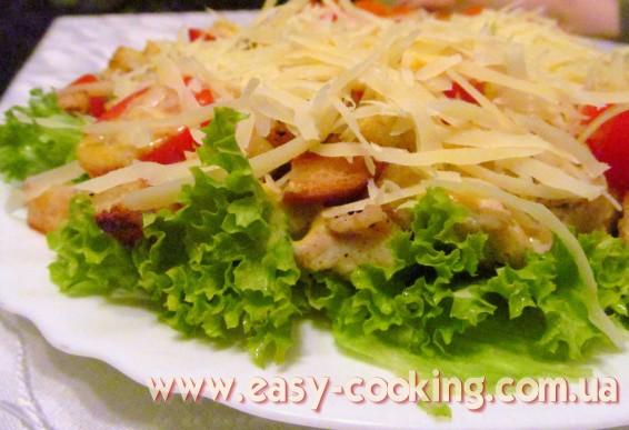 Рецепти салатів. Салат з курячим філе та помідорами-черрі