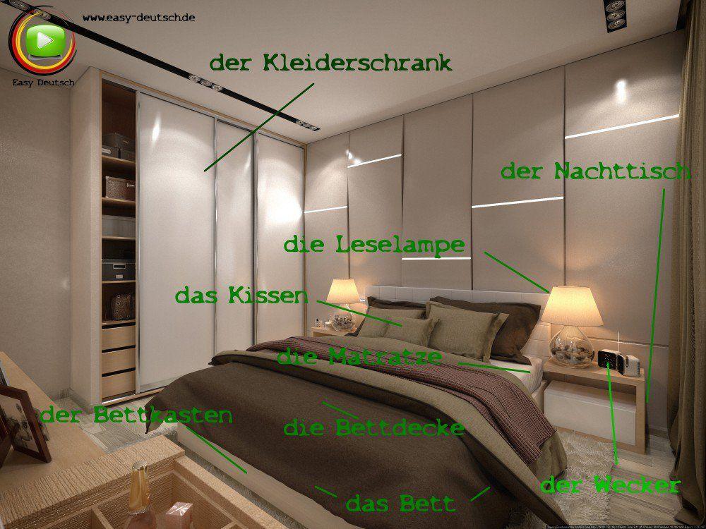 Vokabeln Das Schlafzimmer  EasyDeutsch