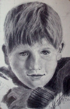 drawing easy boy realistic draw lessons faces pencil drawings young animals learn graphite paintingvalley