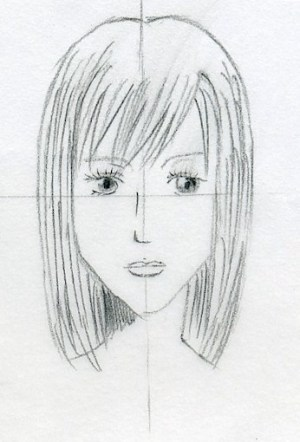 hair manga drawings easy draw sketches drawing simple step side techniques simply young line lady check steps erase upper last