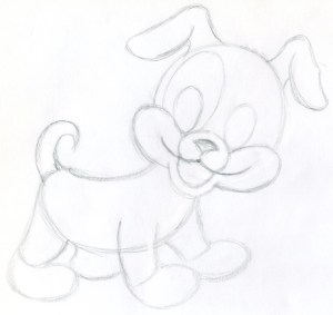 draw cartoon puppy sketch easy characters drawing step very drawings sketches cartoons cliparts pencil puppies paintingvalley them tail clipart kitties