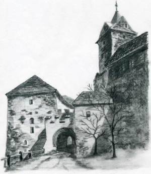 castle drawings easy gothic sketches medieval drawing draw simple inspiration fun artwork