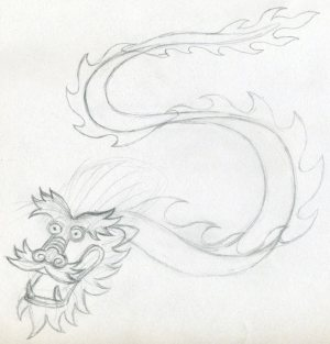 dragon drawing simple drawings easy head dragons pencil sketches draw eyes cach mouth rong ve perfect lines tattoo painting