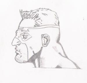 super drawing heroes superhero hero sketch drawings sketches easy paintingvalley barnsley rowan paul