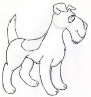 cartoon dog draw easy dogs drawings drawing pencil sketches anime library clipart easily ears animals effortlessly outline clip