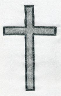 cross drawings easy sketches simple shade darken finally ic wish