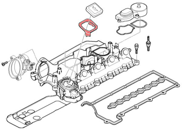 ENGINE OIL FILLER CAP COVER SEAL GASKET FOR BMW E90 E91